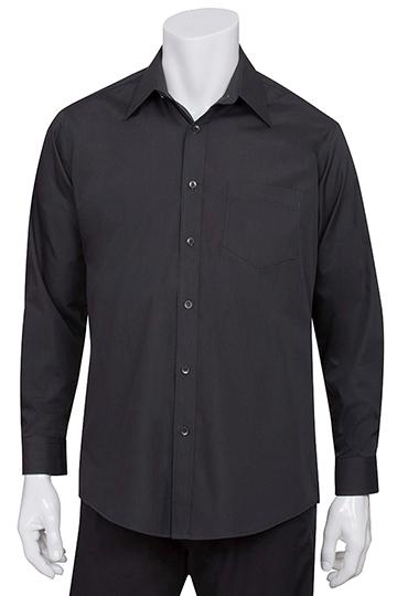 Mens Black Essential Dress Shirt [D150BLK]